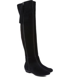 Over The Knee Flat Boot Black