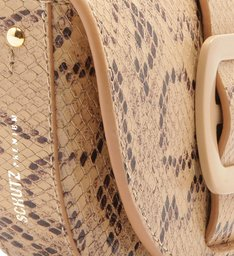 BELT BAG BUCKLE BRIGHT PYTHON