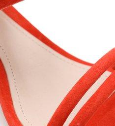 Sandália Salto Bloco Texturas Laranja