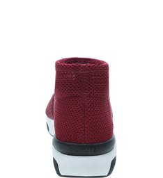 Sock Sneaker Stretch Red