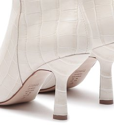 Bota Vintage Mid-High Heel Croco White