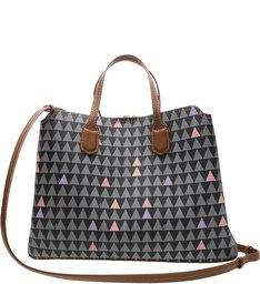 Tote Lia Triangle Black