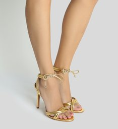 Sandália Lace-up Golden