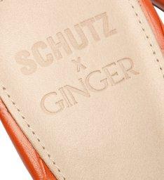 Schutz X Ginger Mule Geometric Croco Ocre