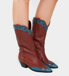 Bota Glam Western Brown & Color