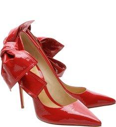Scarpin Verniz Big Bow Tango Red