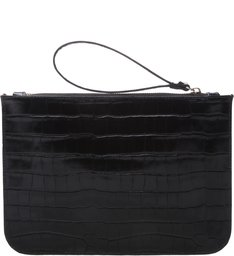Clutch Bright Croco Black