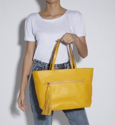 SHOPPING BAG LOUISE YELLOW