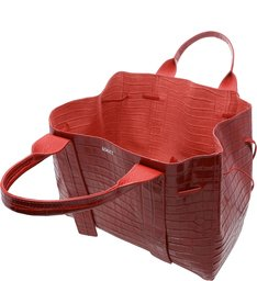 Shopping Maxxi Bag Bright Croco Red
