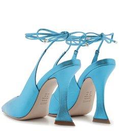 Scarpin Taça Lace-Up Metallic Blue