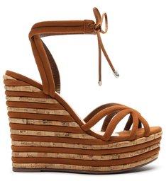 Sandália Anabela Fresh Glam Wood