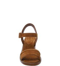 Sandália Block Heel Basic Nobuck Neutral