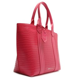 Bolsa Shopping Grande Croco Pink