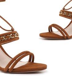 Sandália Texture Chain Wood