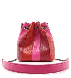 Bucket Bag Grace Snake Red & Pink