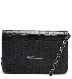 Crossbody 4 Girls Lorena Croco Black