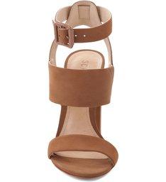 Sandália Três Tiras Salto Bloco Bamboo