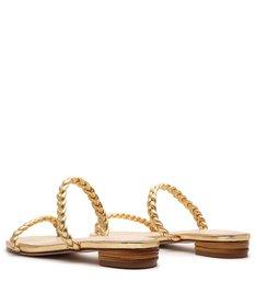 Slide Trança Metallic Gold