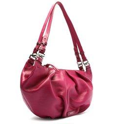 Bolsa Hobo Grande Lauren Couro Pink