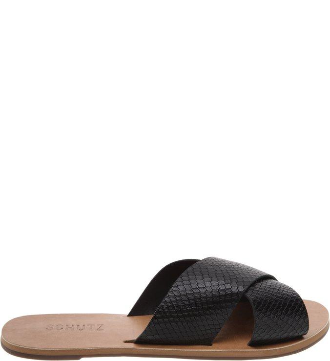 Flat Slide Cross Snake Black