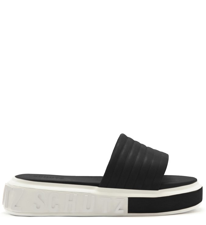 SLIDE BOLD LEATHER BLACK