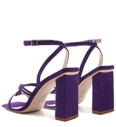 Sandália Strings Bold Heel Nobuck Purple