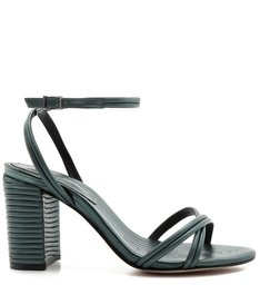 Sandália Texture Metallic Green