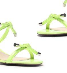 Sandália Mule Block Heel Knots Neon