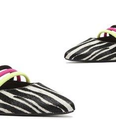 Sapato Mule Rasteira Zebra