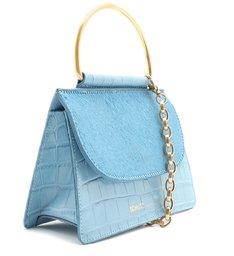 Mini Crossbody Lee Croco Soft Blue