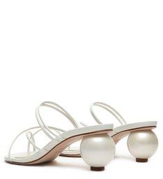 Sandália Mule Geometric Heel White
