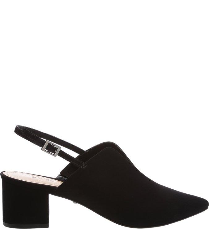 Mule Slingback Block Heel Cava Black