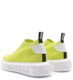 SNEAKER IT SCHUTZ BOLD KNIT NEON LIME