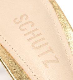 Sandália Mid Heel Strings Gold