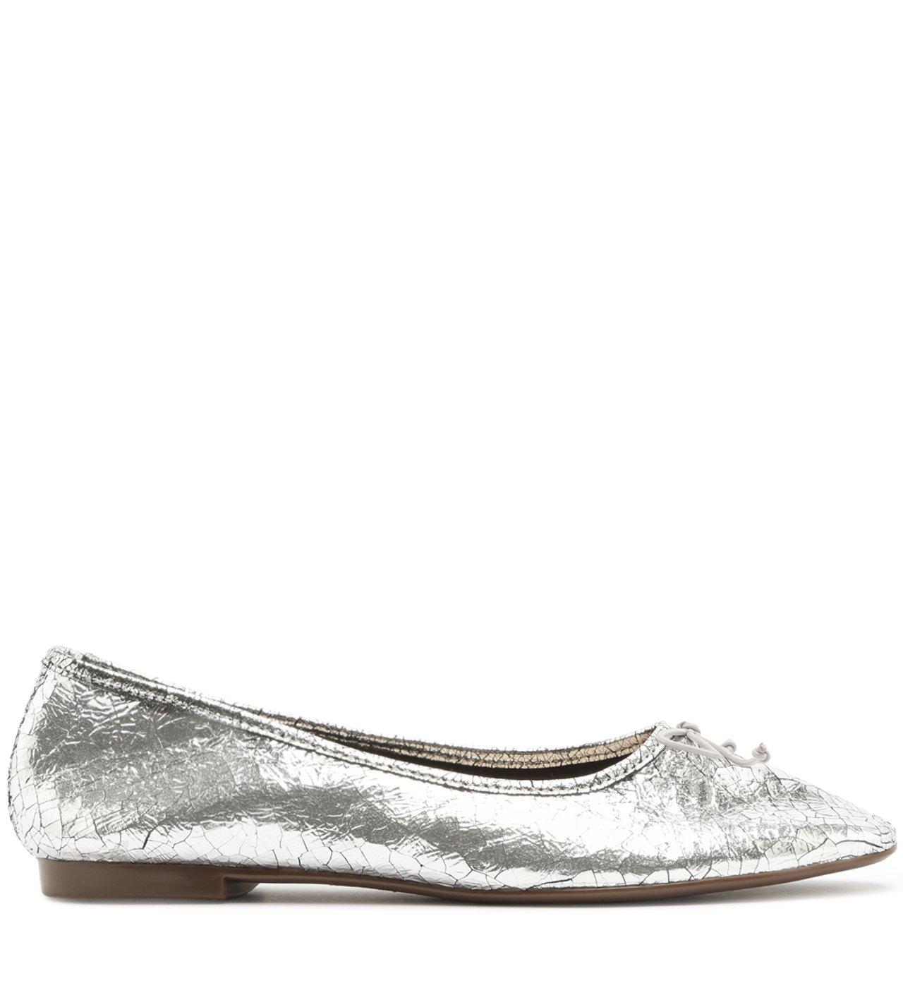 Sapatilha Ballerina Metalic Silver | Schutz