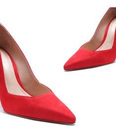 Scarpin Cut Club Red
