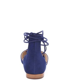 Sapatilha Bico Fino Lace Up Dress Blue