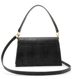 Shoulder Bag A to Z Lezard Black