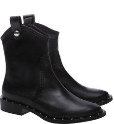 Flat Boot New Western Studs Black