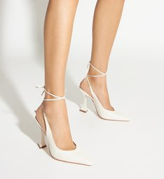 Scarpin Taça Lace-Up White