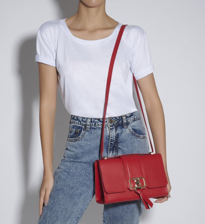 SHOULDER BAG EVA RED