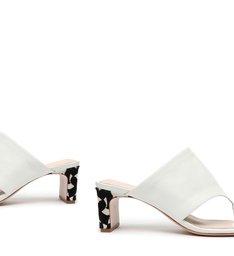 Mule Mid Heel New Minimal White