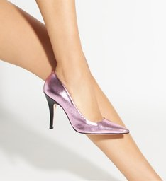 Scarpin Metallic Rose