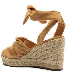 Sapato Espadrille Corda Couro Caramelo