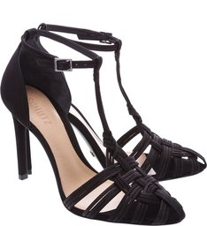 Sandália Crossed Straps Black