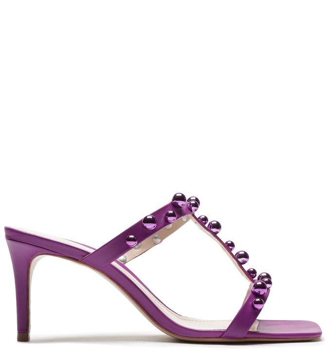 Sandália Mule Studs Full Color Violet