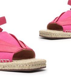 Flat Open Espadrille Pink