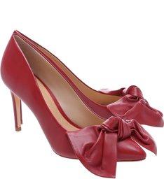 Scarpin Big Bow Tango Red