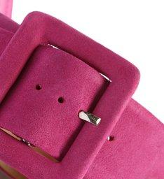 Sapato Mule Rasteiro Camurça Pink