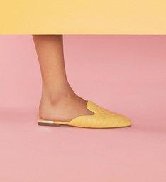 Flat Mule Matelassê Candy Yellow